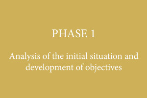 PHASE 1 – Analysis of the initial situation and development of objectives