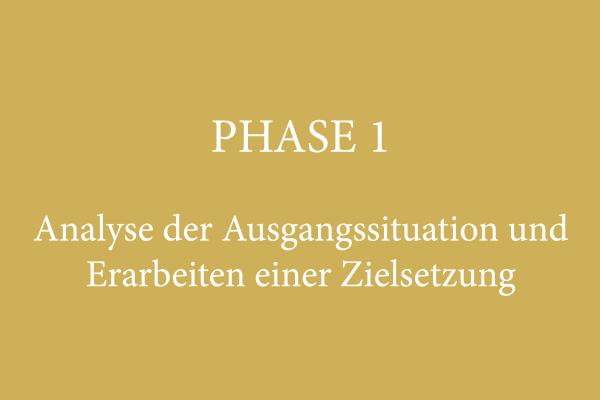 PHASE 1 – Analyse der Ausgangssituation und Erarbeitung einer Zielsetzung