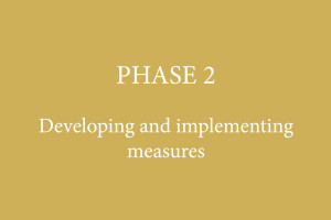 PHASE 2 – Developing and implementing measures