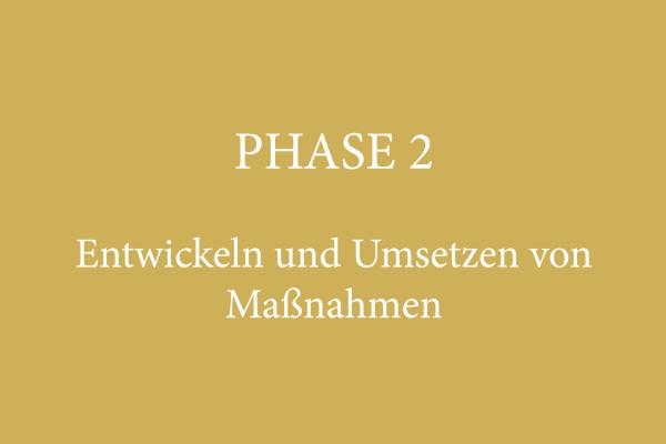 PHASE 2 – Entwickeln und Umsetzen von Maßnahmen
