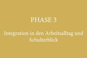 PHASE 3 – Integration in den Arbeitsalltag und Schulterblick
