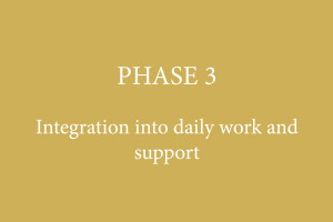 PHASE 3 – Integration into daily work and support